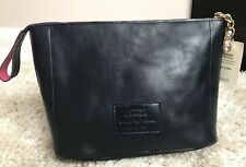 TERRIDA Collection Murano Glass Leather Navy Pouch