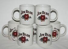 Set of 7 Jim Beam Kentucky Whiskey ceramic stoneware mugs barware 3 3/4