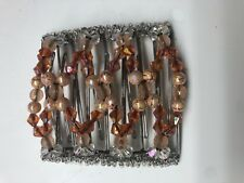 EZ Stretch Comb Hand Made Hair Comb (9 Tooth)- Exquisite African Bead Work