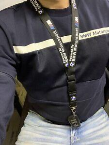 BMW Motorsport Neck Strap Lanyard Car Key Holder FREE SHIPPING