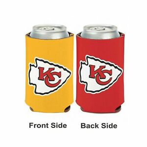 Licensed Football 2 Sided 12 oz Kansas City Chiefs Can Cooler Collapsible Koozie