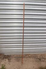 Copper plated earth rod with solid brass clamp earthing
