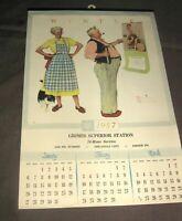 Vintage 1957 Norman Rockwell Four Seasons Calendar,Brown & Bigelow,Kansas,4 Page