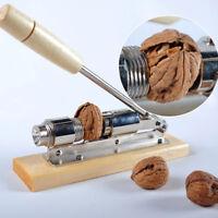 Manual Heavy Duty Easy Pecan Nut Cracker Nickel-Plated Nutcracker Walnut Sheller