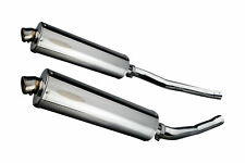 """Kawasaki ZX-14 Delkevic Slip On 18"""" Stainless Steel Oval Muffler Exhaust 06 07"""