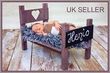 Fotografía de bebé recién nacido cama foto Prop cama de madera hecho a mano