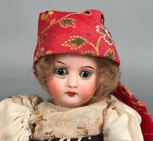 "Antique 6"" Heubach Kopplesdorf 250 20/0 Bisque Girl Doll Socket Head Germany"
