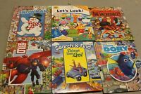 Lot of 6 ~ FIRST LOOK & FIND ~ Large Board Books ~children/snowman/dory/
