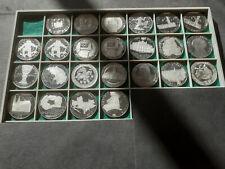 100.- Schilling Silbermünzen SERIE in PP