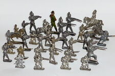 Antiguo Estaño Soldados Soldaditos De Plomo Figuras De Estaño Figuras