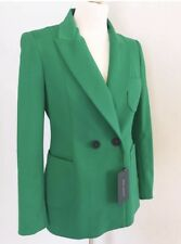 Zara Green Smart Double Breasted Blazer Jacket Size M UK 12 BNWT