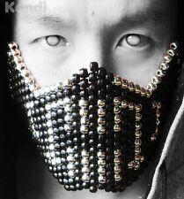 Silver Metallic Bane Kandi Mask From KandiGear, Rave Costumes & Gear For Concert