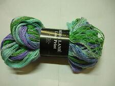 Knitting Yarn Filatura Moda Lame Long Print Lilac Blue Green Silver Shade 200