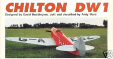 "Model Airplane Plans (RC): Chilton DW1 48"" 1/6 Scale monoplane for .20-.26"