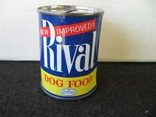 Vintage Rival Dog Food Tin Bank, all Tin, removable bottom