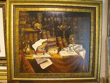 "Israeli Art - Y. Lukov - Judaica - Oil on Canvas - 27.5"" x 23.5""  (36.6""x32.5"")"