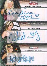 Velvet Sky Madison Rayne Angelina Love 2009 TNA Impact Triple Auto graph #2/10
