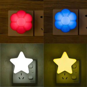 Bedroom Mini Plug-In Wall Lighting Night for LED Lamp Kids Light Control Sensor