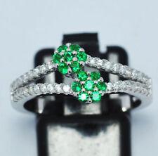 Anelli di lusso con gemme in argento zircone