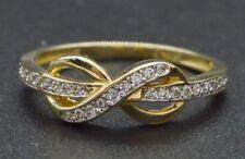 14K Yellow Gold Created Round Diamond Infinity Ring  (RM18)