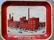 New listing Antique Vintage Walter Brewing Company Beer Tray Eau Claire Wi