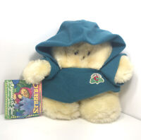 "Vintage 1980s Animal Fair Chubbles Plush Stuffed Toy Teal Blue Cloak 8"""