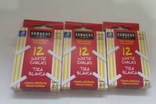 (Lot of 3) Sargent Art Astm D-4236 12-count White Dustless Chalk Ch12/22
