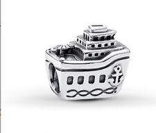 Genuine Pandora Sterling Silver Cruise Ship Charm retired 791043