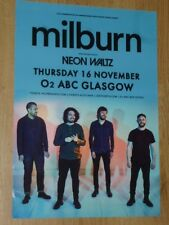 Milburn + Neon Waltz - Glasgow nov.2017 tour concert gig poster