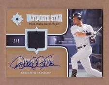 2007 ultimate DEREK JETER auto PATCH sp #1/5 YANKEES collection JERSEY logo 1/1