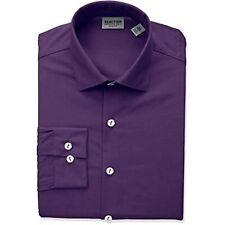 Kenneth Cole REACTION Men's Collared Long Sleeve Dress Shirt (Purple, 15X34-35)