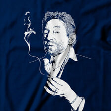 French artist Musician Serge Gainsbourg T-Shirt Smoking