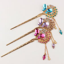 New Retro China Handmade Classic Clasp Hairpin Alloy Embroidery Hair Accessories
