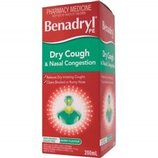 BENADRYL PE DRY COUGH & NASAL CONGESTION 200ML NOSE RELIEF BERRY FLAVOUR