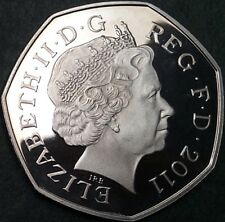 A Very Rare 'shield Design' 2011 50p Coin Taken From A Royal Mint PROOF Set.
