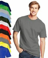 Hanes USA Tagless Mens Plain Cotton Beefy Heavyweight Tee T-Shirt Tshirt S-XXXL