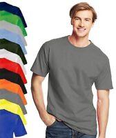 Hanes USA Mens Plain Cotton Beefy Heavyweight Tee T-Shirt Tshirt S - 6XL