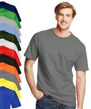 Hanes USA Mens Plain Cotton Beefy Heavyweight Tee T-Shirt Tshirt S - 6XL