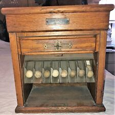 Antique Early 1900's RAILROAD TICKET CABINET by POOLE BROS. TRAIN BOX