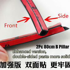 2Pc 80cm B Pillar Anti-Noise Rubber Seal Strip Car Door Dustproof Sealing Strip