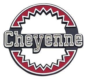 """1975-79 Chevrolet K5 Blazer Quarter Panel Emblem """"Cheyenne"""""""