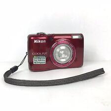 Nikon COOLPIX L26 16.1MP Digital Camera Red Works Good