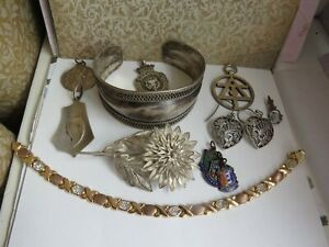 VINTAGE Sterling Silver Mixed Lot Jewellery  -Resell /Wear .