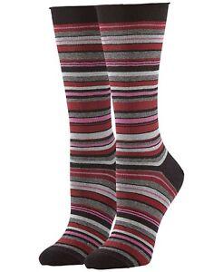 Hue Women's Jean Socks Size: 9-11 Sangria