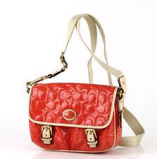 NWT Coach Peyton Emb Patent Field Crossbody Handbag in Papaya/Tan F 49082 $168
