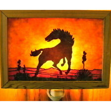 Rustic handmade night light by Innerlight - WILD HORSE - #IL-NL-WHS-110