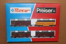 "Roco set 44009 Set "" CIRCUS  KRONE "" dans des wagons Gbs et Hkke DB Ep. IV"