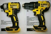 "NEW DEWALT DCF787 1/4"" Hex Impact Driver + DCF777 1/2"" Drill Brushless Li-Ion"