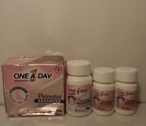 60 One A Day Prenatal Advanced Multivitamin Softgels & 90 Choline Tablets 4/22+