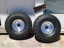Mini Bike Wheel RIM Kit Polished alloy with disc brake CARLISLE 530 6 NHS TIRES